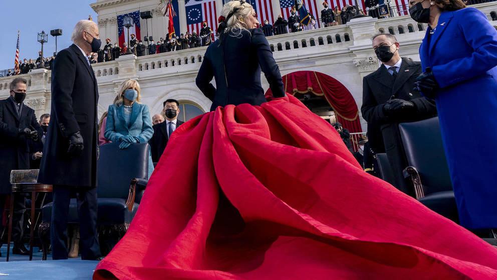 Lady Gaga bei der Amtseinführung von Joe Biden und Kamala Harris am 20. Januar 2021