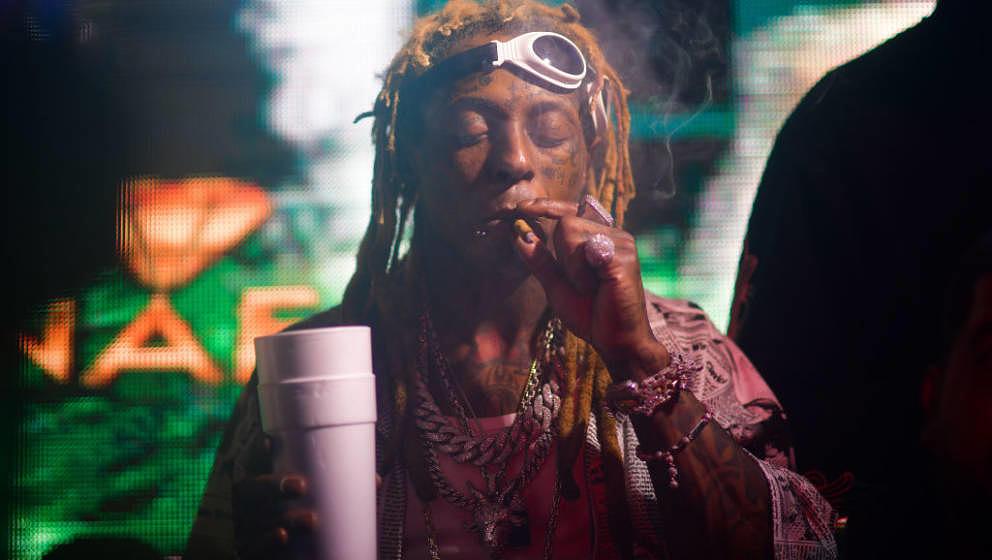 ATLANTA, GA - NOVEMBER 29: Rapper Lil Wayne attends Reginae Carter 22 Hot Girl Birthday at Republic Lounge on November 29, 20