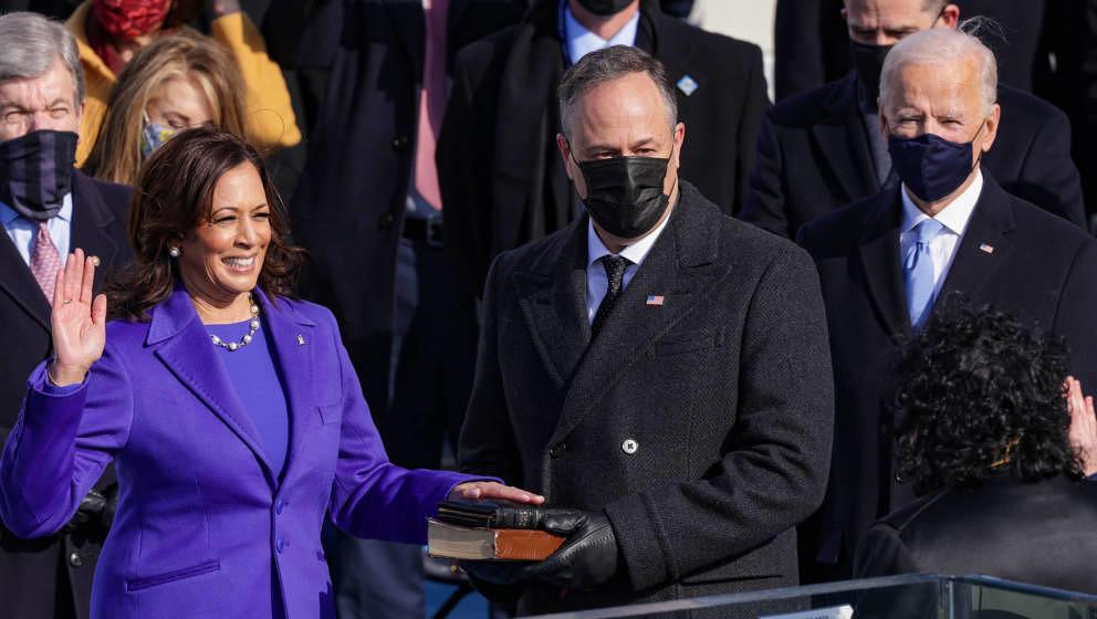 Kamala Harris wurde am 21. Januar als erste Frau in das Amt zur US-Vizepräsidentin eingeführt.