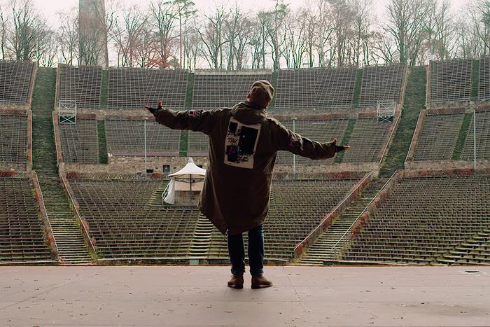 Sänger Arnim auf der Waldbühne in Berlin