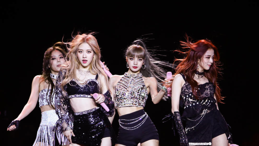 INDIO, CALIFORNIA - APRIL 19: Blackpink perform at the Sahara Tent during the 2019 Coachella Valley Music And Arts Festival o