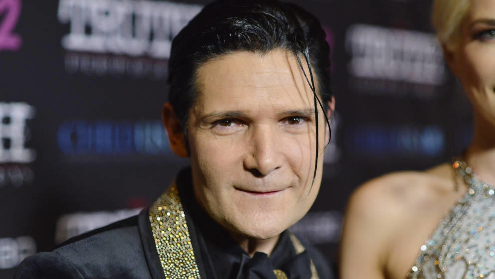 LOS ANGELES, CALIFORNIA - MARCH 09: Corey Feldman attends the Premiere of 'My Truth: The Rape Of Two Coreys' at Directors Gui