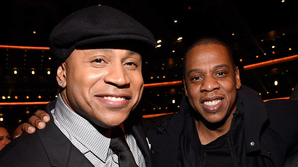 LOS ANGELES, CA - FEBRUARY 10:  LL Cool J and Jay Z attend Stevie Wonder: Songs In The Key Of Life - An All-Star GRAMMY Salut