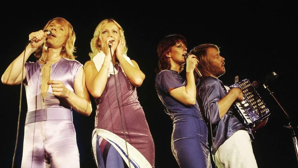 ABBA bei ihrem Auftritt im Wembley-Stadion