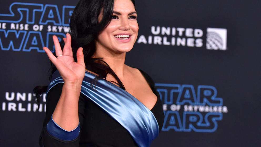 HOLLYWOOD, CALIFORNIA - DECEMBER 16: Gina Carano attends the Premiere of Disney's 'Star Wars: The Rise Of Skywalker' on Decem