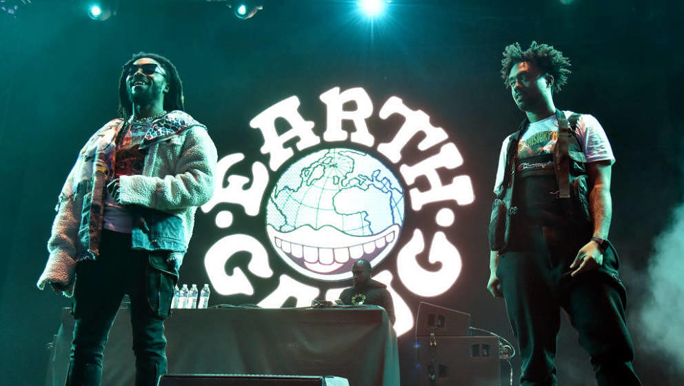 OKEECHOBEE, FLORIDA - MARCH 07: (L-R) Doctur Dot and Johnny Venus of EarthGang perform during the Okeechobee Music Festival a