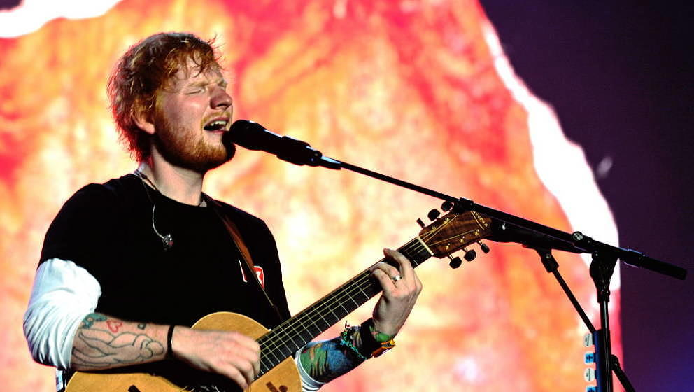 BUDAPEST, HUNGARY - AUGUST 07:  Ed Sheeran performs on stage at Sziget Festival on  (Photo by Didier Messens/Redferns)