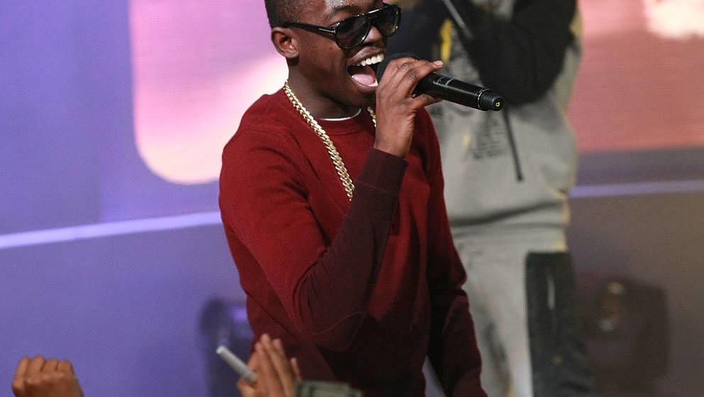 NEW YORK, NY - DECEMBER 12:  Bobby Shmurda performs during 106 & Party on December 12, 2014 in New York City.  (Photo by