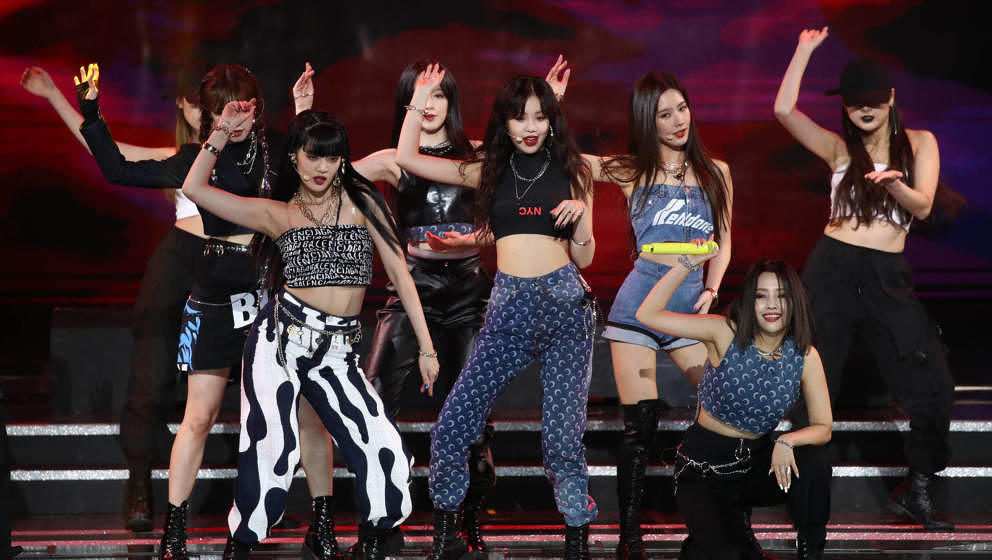 Die Girlgroup (G)I-DLE performt auf der Bühne während der 9th Gaon Chart K-Pop Awards am 08. Januar 2020 in Seoul, Südkore