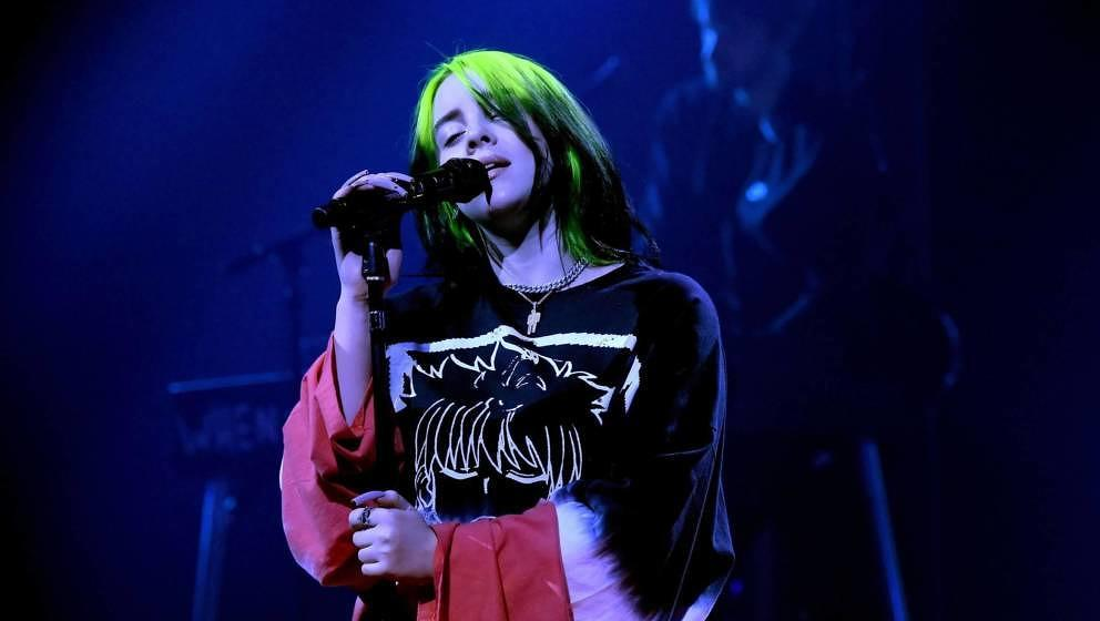 BURBANK, CALIFORNIA - JANUARY 28: (EDITORIAL USE ONLY) In this image released on January 28, Billie Eilish performs onstage d