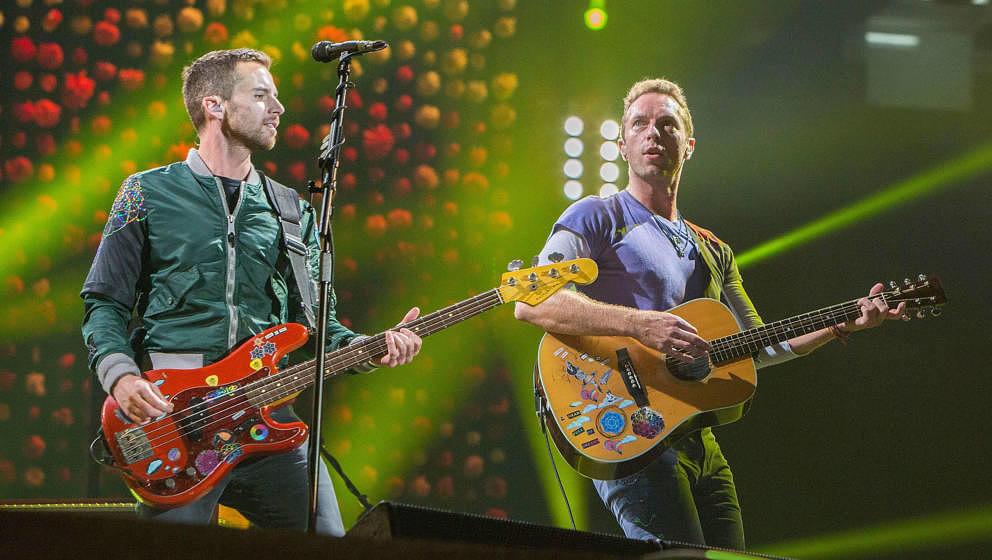 Guy Berryman und Chris Martin von Coldplay.
