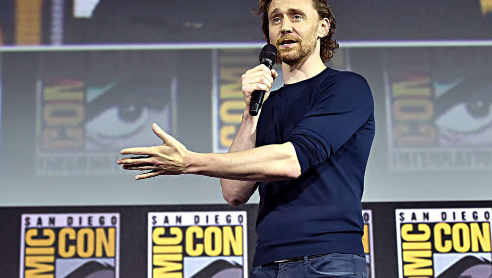 SAN DIEGO, CALIFORNIA - JULY 20: Tom Hiddleston of Marvel Studios' 'Loki' at the San Diego Comic-Con International 2019 Marve