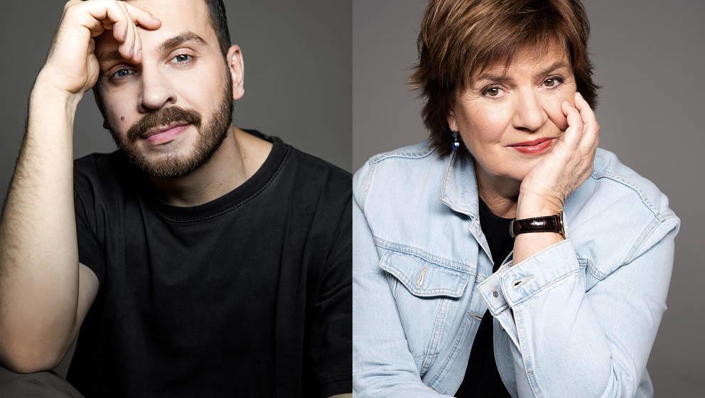 """Edin Hasanovic und Christine Westermann starteten am 25. Februar 2021 ihren Podcast """"JUNG UND JÜNGER""""."""