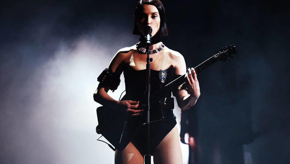 LOS ANGELES, CA - FEBRUARY 10:  St. Vincent performs onstage during the 61st Annual GRAMMY Awards at Staples Center on Februa