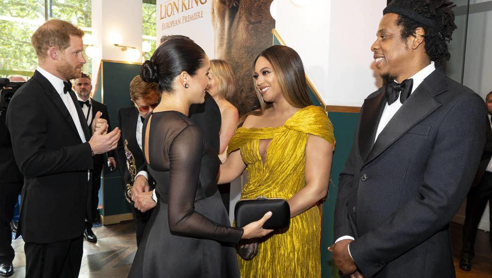Prinz Harry, Herzog von Sussex und Meghan, Herzogin von Sussex treffen Cast und Crew, darunter Beyonce Knowles-Carter und Jay