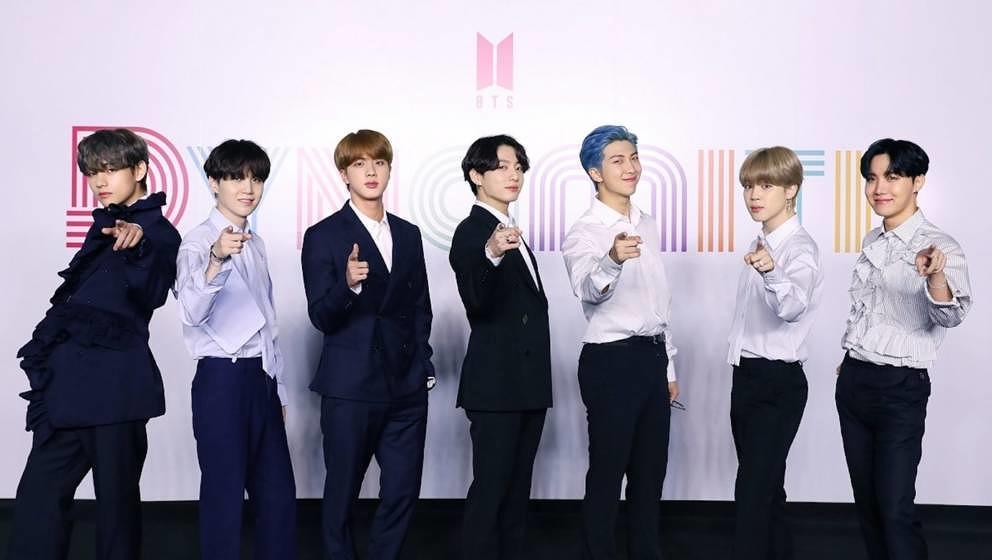 """Die K-Pop-Band BTS bei der Pressekonferenz zu """"Dynamite"""""""