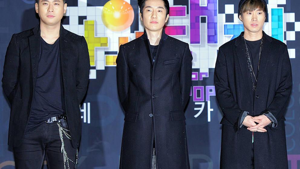 SEOUL, SOUTH KOREA - DECEMBER 29:  Epik High pose for photographs during the 2012 SBS The Color Of K-pop at Korea University'