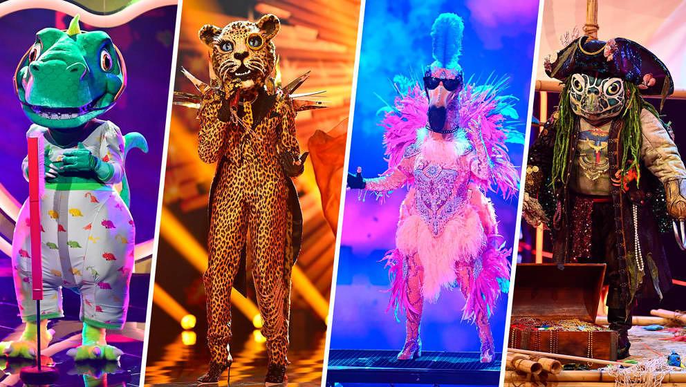 Titel: The Masked Singer; Staffel: 4; Folge: 6; Finale; Person: Der Dinosaurier; Der Leopard; Der Flamingo; Die Schildkröte;