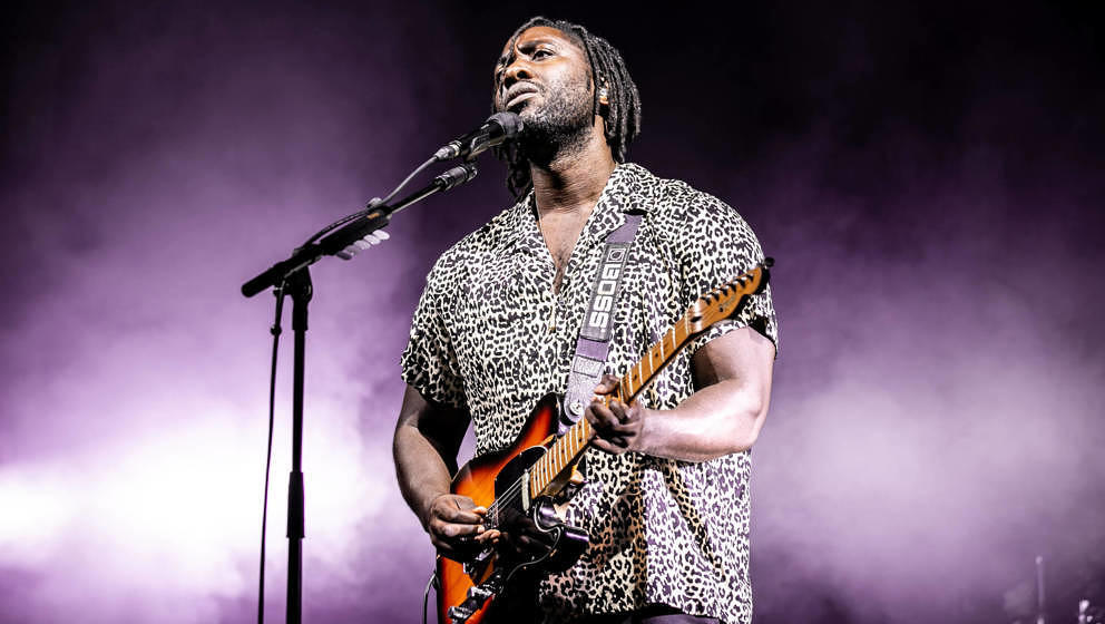 BRISTOL, ENGLAND - JUNE 28: Kele Okereke of Bloc Party performs on stage during Bristol Sounds 2019 on June 28, 2019 in Brist