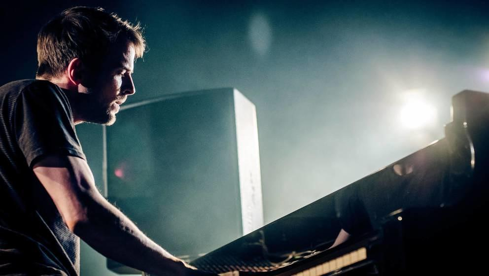 BERLIN, GERMANY - APRIL 29: German musician Nils Frahm performs live during a concert at Volksbuehne on April 29, 2015 in Ber