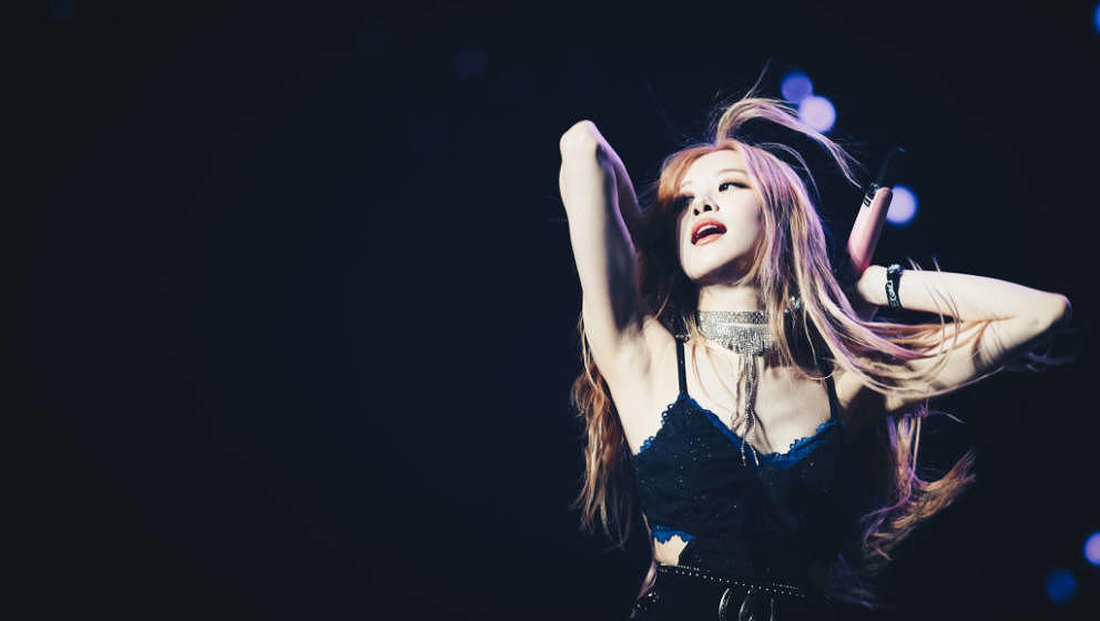 INDIO, CALIFORNIA - APRIL 12: (EDITORS NOTE: Image has been processed using digital filters.) Rosé of BLACKPINK performs at