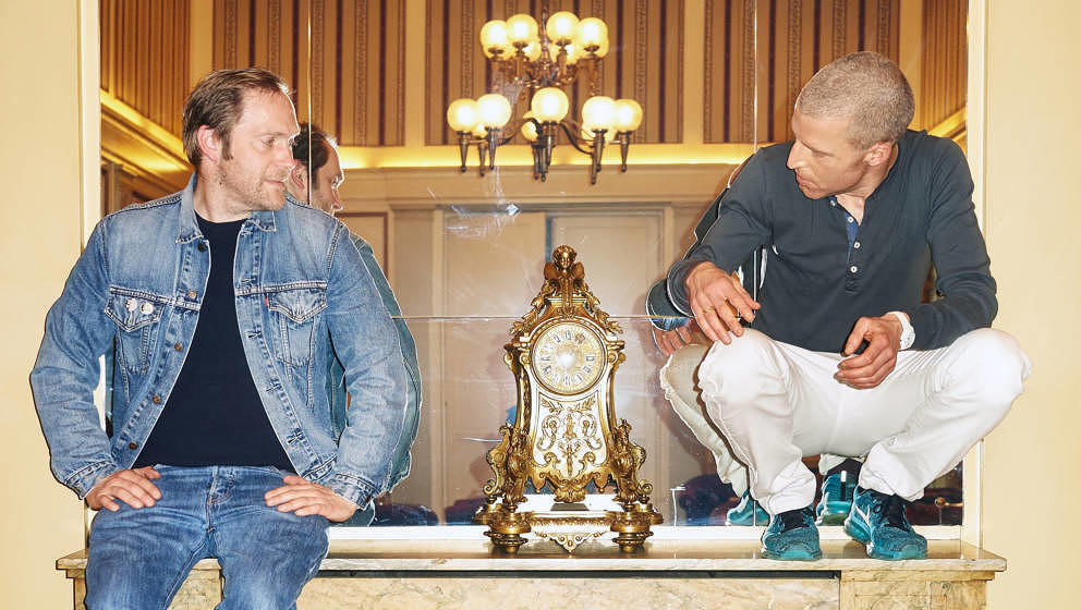 Thees Uhlmann und Benjamin von Stuckrad-Barre, 2016 im Hamburger Hotel Atlantic