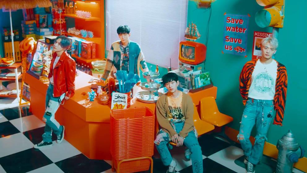 """Die K-Pop-Gruppe SHINee in ihrem aktuellen Video zu """"Atlantis""""."""