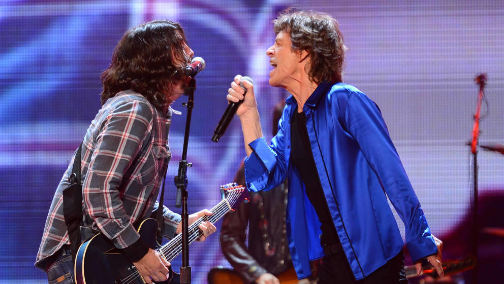 Dave Grohl und Mick Jagger