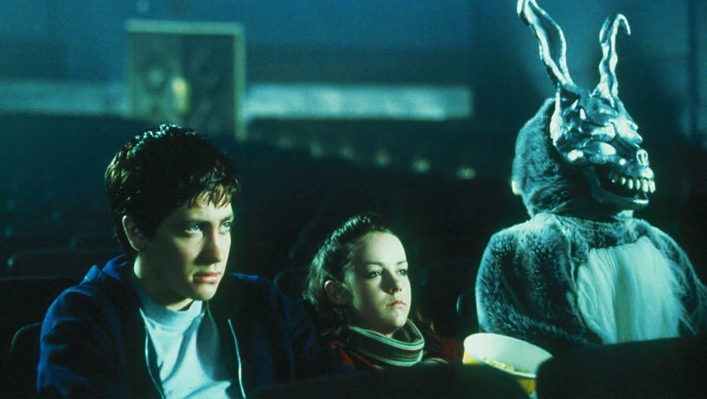 Donnie Darko (Jake Gyllenhal) mit seinem verstörenden Phantasiefreund im Hasenkostüm.