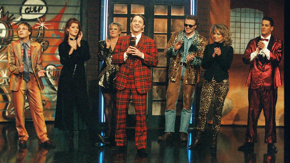 'RTL Samstag Nacht' TV-Comedy Show 1995 - Aufzeichnung der 50. Ausgabe von 'RTL Samstag Nacht' in den MMC Studios in Hürth.