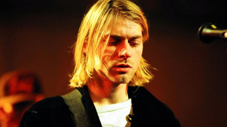 Kurt Cobain of Nirvana (Photo by Jeff Kravitz/FilmMagic)