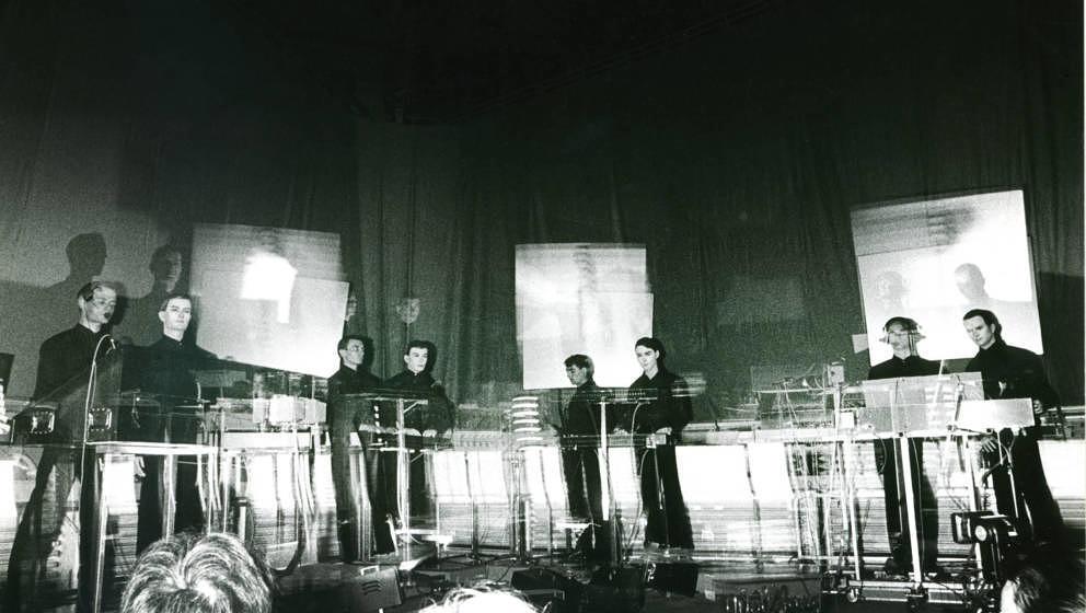 Ralf Hütter, Florian Schneider, Wolfgang Flür, Karl Bartos, Kraftwerk, Brüssel 1981