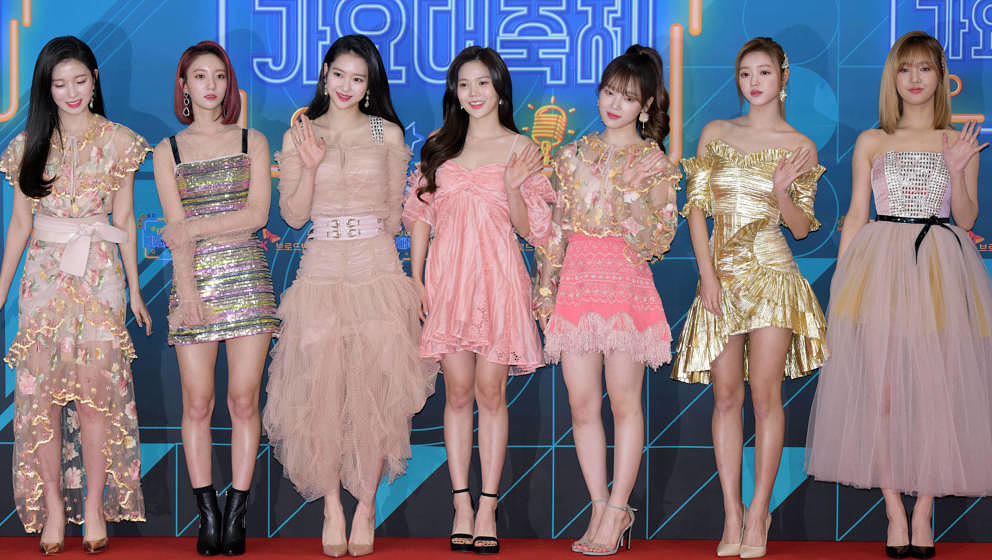 SEOUL, SOUTH KOREA - DECEMBER 28: Oh My Girl attends the 2018 KBS Song Festival at KBS New Public Hall on December 28, 2018 i