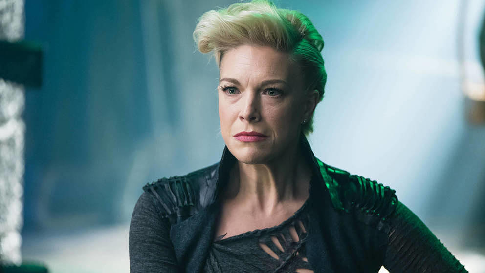 KRYPTON -- 'Savage Night' Episode 108 -- Pictured: Hannah Waddingham as Jax-Ur -- (Photo by: Steffan Hill/Syfy/NBCU Photo Ban