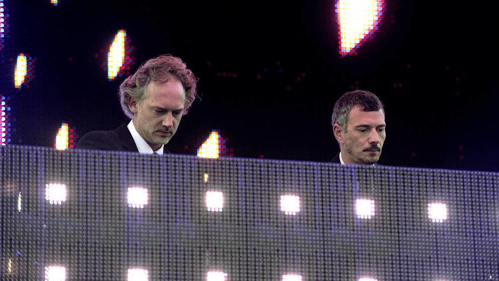 SAN FRANCISCO, CA - OCTOBER 16: Richard Dorfmeister (L) and Peter Kruder of Dorfmeister & Kruder perform as part of the T