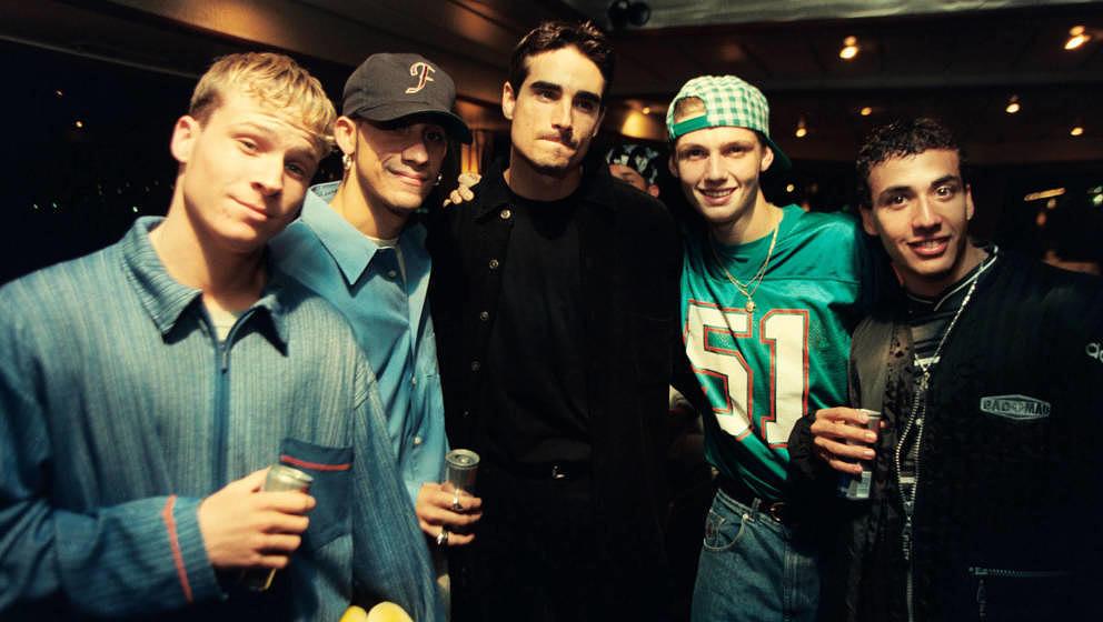 Backstreet Boys / popkomm 1996 - Die US-amerikanische Boygroup 'Backstreet Boys' Howie Dorough, Alexander James McLean, Nick