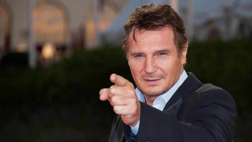 DEAUVILLE, FRANCE - SEPTEMBER 07:  Actor Liam Neeson poses on the red carpet before the screening of his movie 'Taken 2' duri
