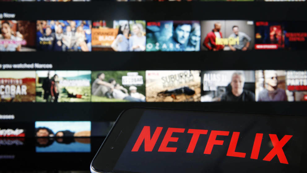 PARIS, FRANCE - MARCH 28: In this photo illustration, the Netflix media service provider's logo is displayed on the screen of