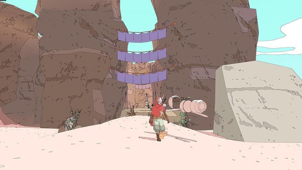 Screenshot aus dem Videospiel 'Sable'