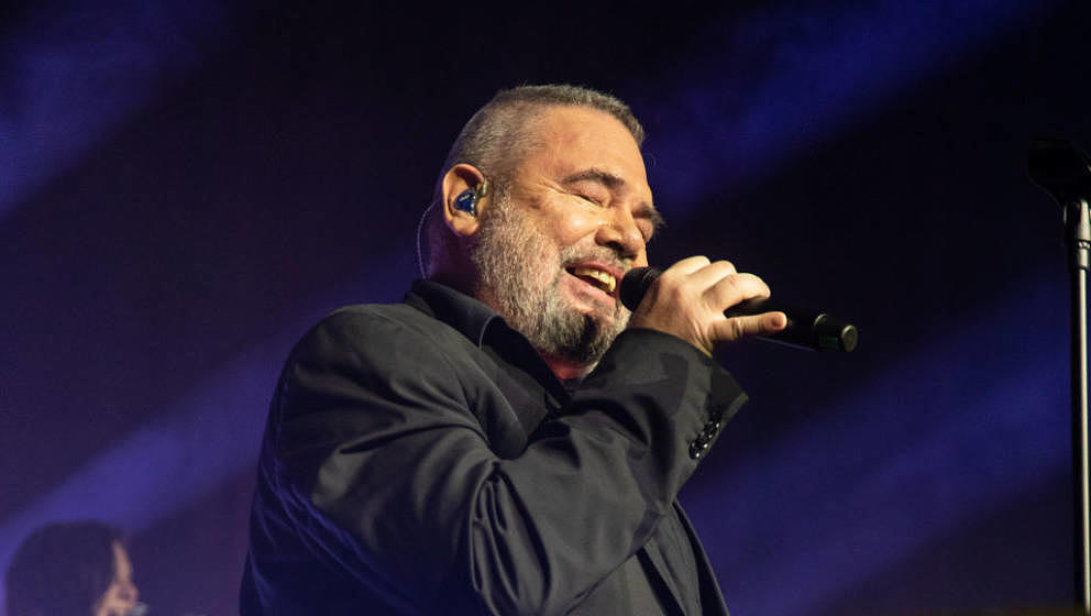 COLOGNE, GERMANY - DECEMBER 14: Marian Gold performs with Alphaville at the Fly & Help Gala at Maritim Hotel on December