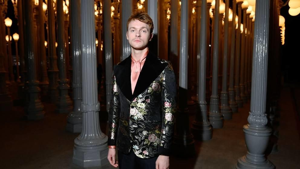 LOS ANGELES, CALIFORNIA - NOVEMBER 02: Finneas O'Connell, wearing Gucci, attends the 2019 LACMA Art + Film Gala Presented By
