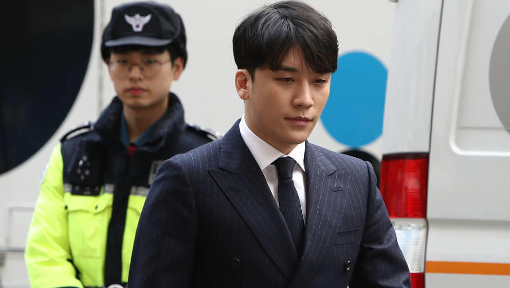 SEOUL, SOUTH KOREA - MARCH 14: Seungri, formerly a member of South Korean boy band BIGBANG is seen arriving at a Seoul Metrop
