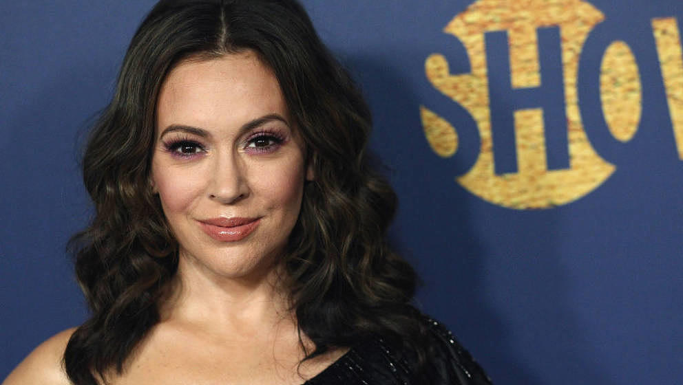 LOS ANGELES, CA - SEPTEMBER 16:  Alyssa Milano attends the Showtime Emmy Eve Nominees Celebration at Chateau Marmont on Septe
