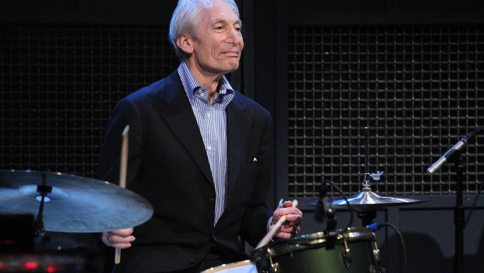 Charlie Watts, legendärer Drummer der Rolling Stones, hier im Jahr 2012 bei Jimmy Fallon