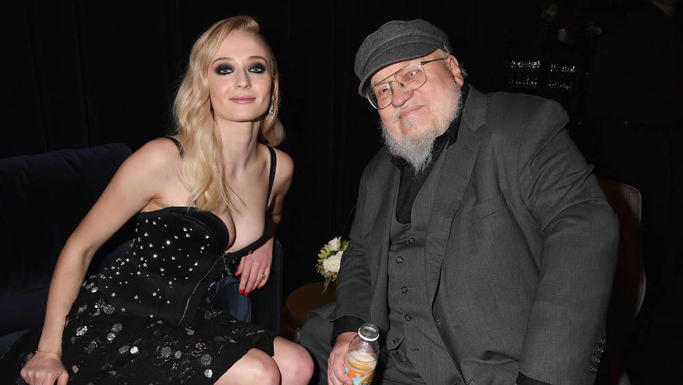 """Sophie Turner und George R. R. Martin bei der Premiere zur achten Staffel von """"Game Of Thrones"""" am 3. April 2019 in New Y"""