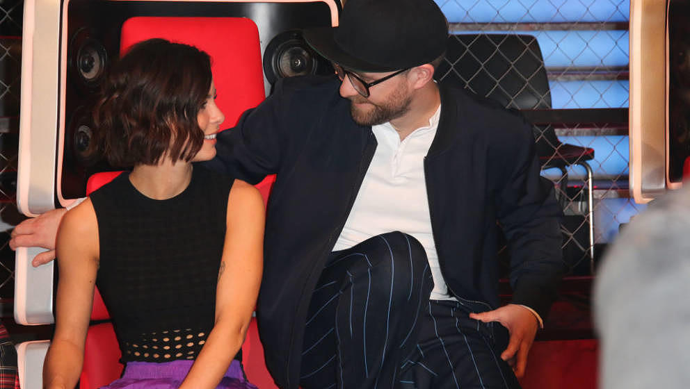 BERLIN, EL SALVADOR - JANUARY 28: Lena Meyer-Landrut and Mark Forster during the photo call for the show 'The Voice Kids' on