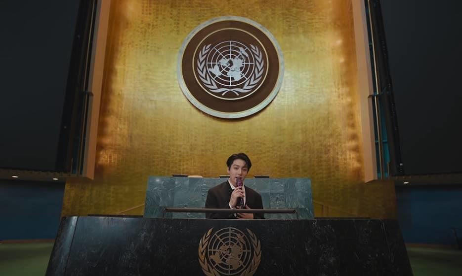 Szene aus dem BTS-Video für die UNO