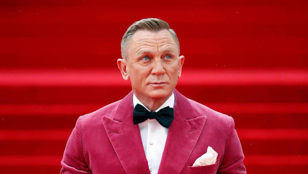 """Daniel Craig am 28. September bei der """"No Time To Die""""-Premiere in London."""