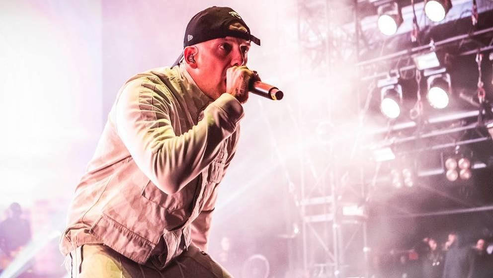 NUERBURG, GERMANY - JUNE 07: Austrian rapper RAF Camora performs live on stage during Rock am Ring at Nuerburgring on June 7,